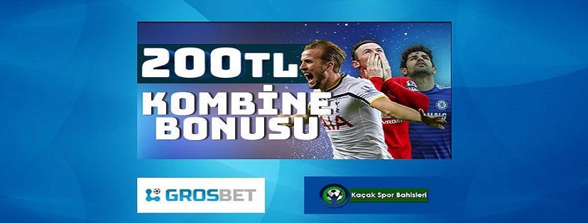 Grosbet Süper Lig Kombine Bonusu 200 TL
